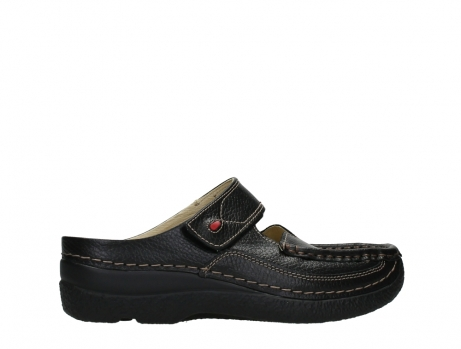 wolky slippers 06227 roll slipper 70000 black printed leather_24
