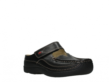 wolky slippers 06227 roll slipper 70000 black printed leather_4