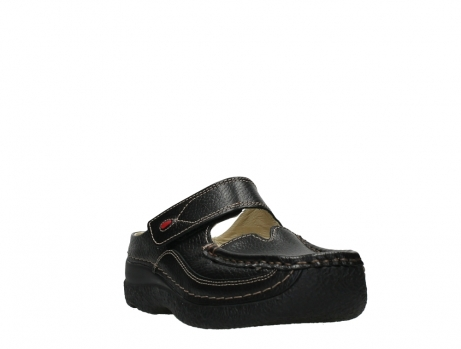 wolky slippers 06227 roll slipper 70000 black printed leather_5