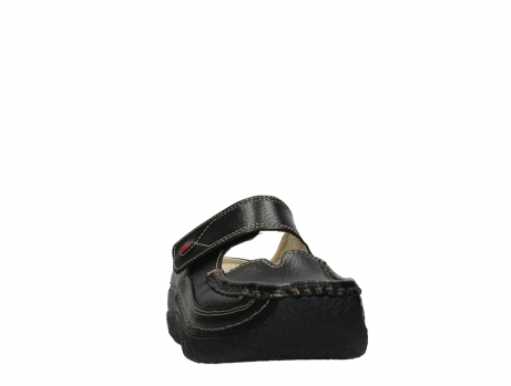 wolky slippers 06227 roll slipper 70000 black printed leather_6
