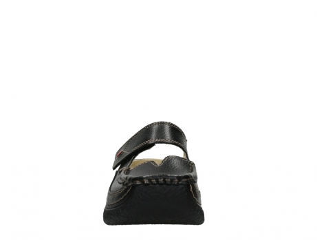 wolky slippers 06227 roll slipper 70000 black printed leather_7