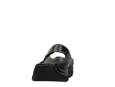 wolky slippers 06227 roll slipper 70000 black printed leather_8