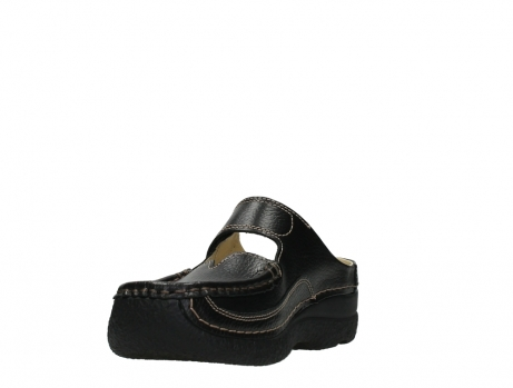 wolky slippers 06227 roll slipper 70000 black printed leather_9