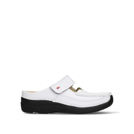 wolky slippers 06227 roll slipper 70100 white printed leather