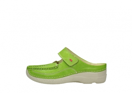 wolky slippers 06227 roll slipper 90750 lime dots nubuck_1