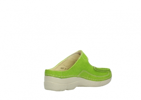 wolky slippers 06227 roll slipper 90750 lime dots nubuck_10