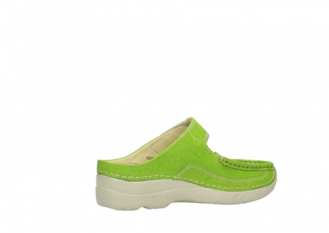 wolky slippers 06227 roll slipper 90750 lime dots nubuck_11