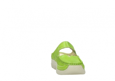 wolky slippers 06227 roll slipper 90750 lime dots nubuck_18