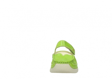 wolky slippers 06227 roll slipper 90750 lime dots nubuck_19