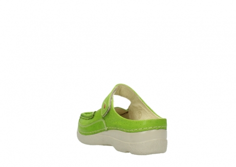 wolky slippers 06227 roll slipper 90750 lime dots nubuck_5
