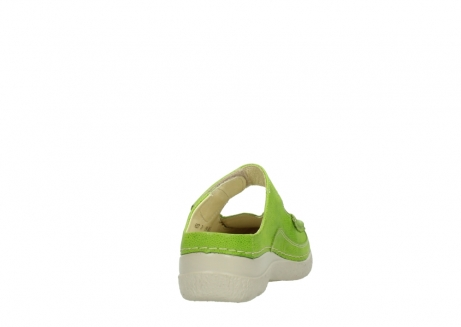 wolky slippers 06227 roll slipper 90750 lime dots nubuck_8