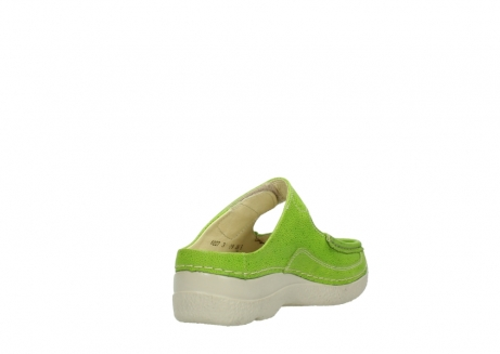 wolky slippers 06227 roll slipper 90750 lime dots nubuck_9