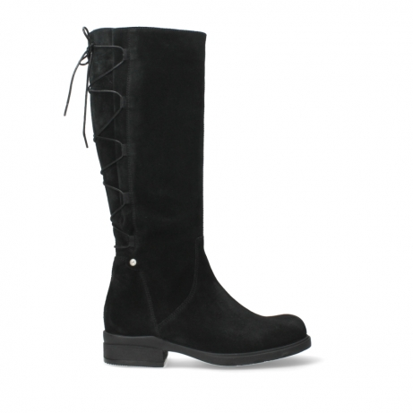 wolky high boots 02633 longview 45000 black suede