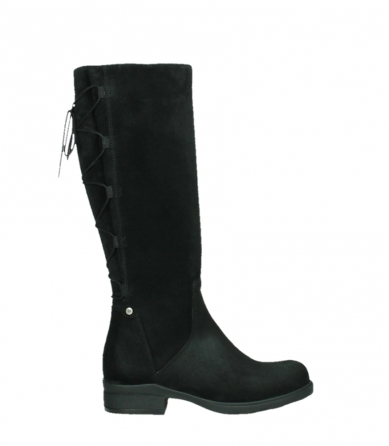 wolky high boots 02633 longview 45000 black suede_1