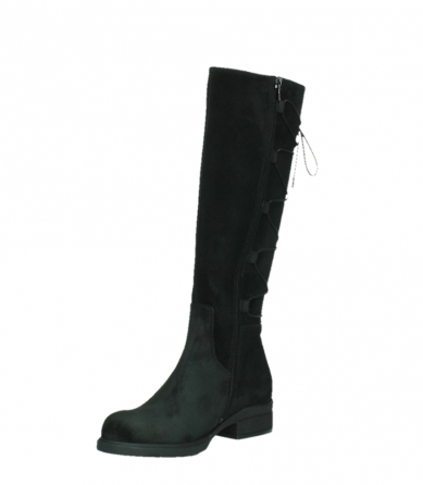 wolky high boots 02633 longview 45000 black suede_10