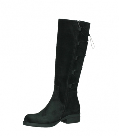 wolky high boots 02633 longview 45000 black suede_11