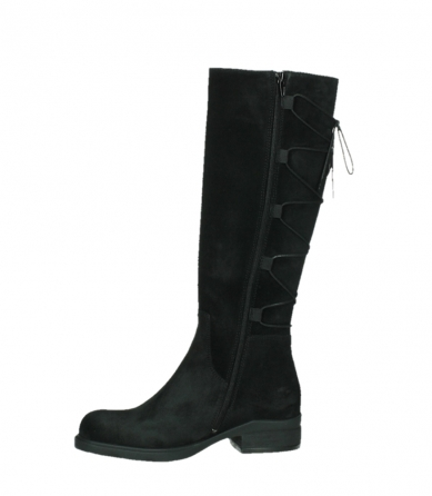wolky high boots 02633 longview 45000 black suede_12