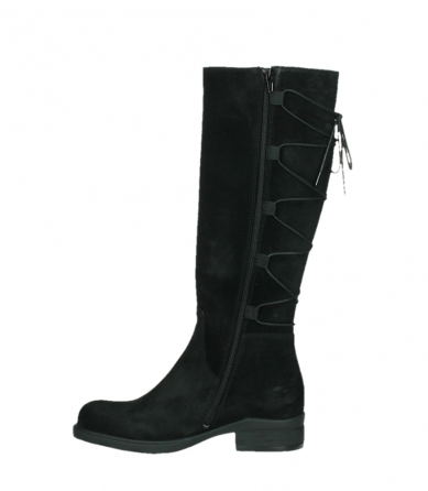 wolky high boots 02633 longview 45000 black suede_13