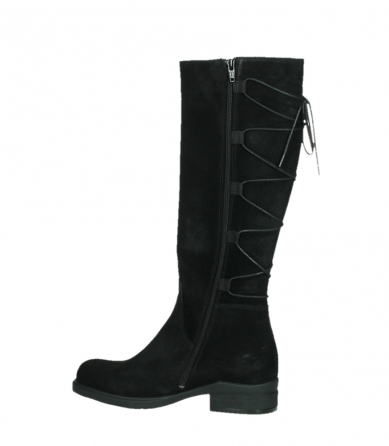 wolky high boots 02633 longview 45000 black suede_14