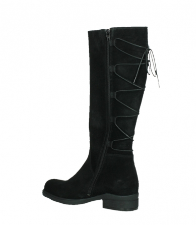 wolky high boots 02633 longview 45000 black suede_15