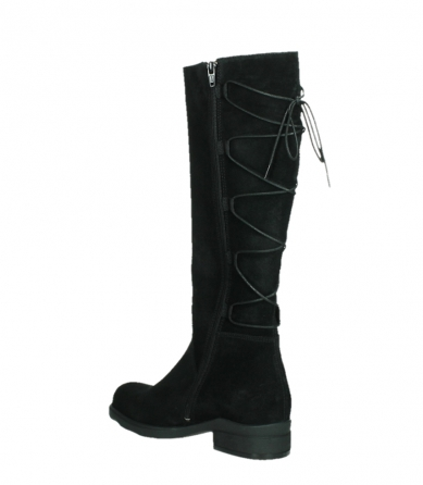wolky high boots 02633 longview 45000 black suede_16