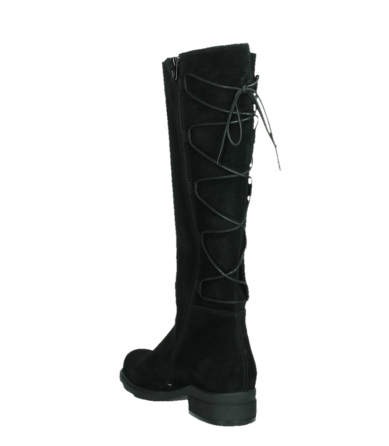 wolky high boots 02633 longview 45000 black suede_17