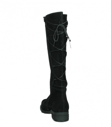 wolky high boots 02633 longview 45000 black suede_18