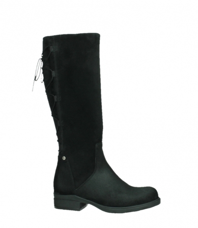 wolky high boots 02633 longview 45000 black suede_2