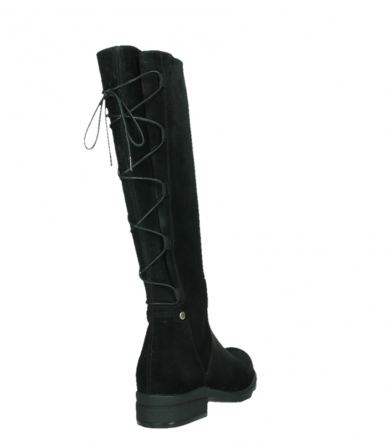 wolky high boots 02633 longview 45000 black suede_21