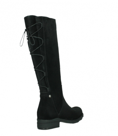 wolky high boots 02633 longview 45000 black suede_22