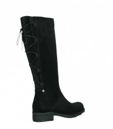 wolky high boots 02633 longview 45000 black suede_23