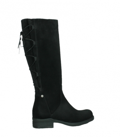 wolky high boots 02633 longview 45000 black suede_24