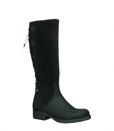 wolky high boots 02633 longview 45000 black suede_3