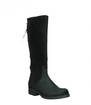 wolky high boots 02633 longview 45000 black suede_4