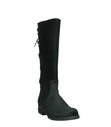 wolky high boots 02633 longview 45000 black suede_5