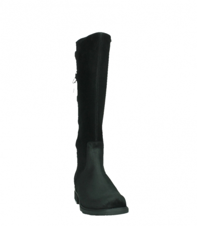 wolky high boots 02633 longview 45000 black suede_6