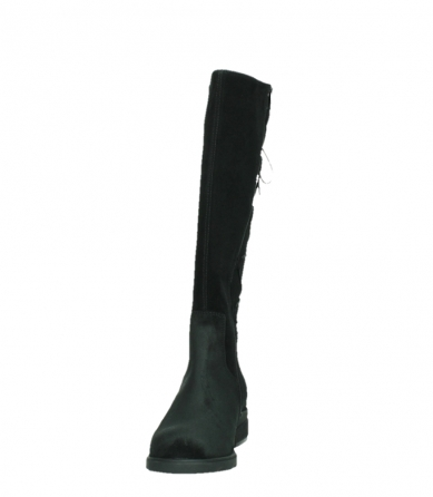 wolky high boots 02633 longview 45000 black suede_8