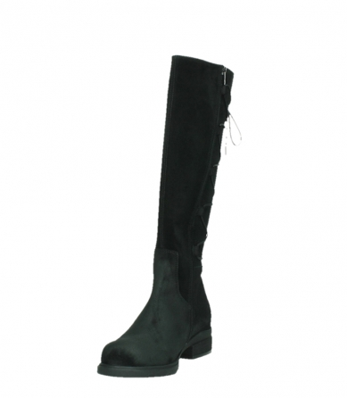 wolky high boots 02633 longview 45000 black suede_9