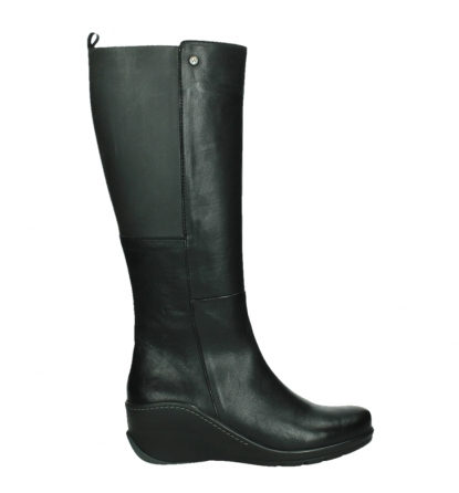 wolky high boots 03877 tanana 30000 black leather_1