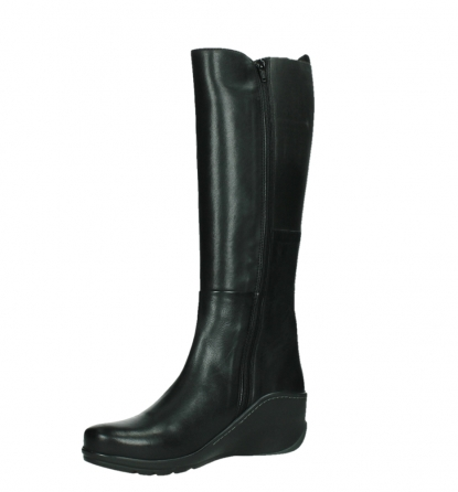 wolky high boots 03877 tanana 30000 black leather_11