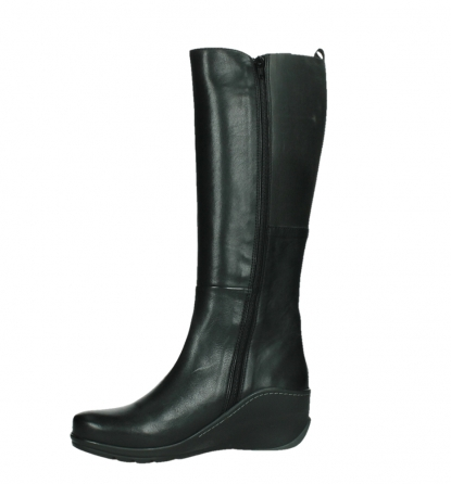 wolky high boots 03877 tanana 30000 black leather_12
