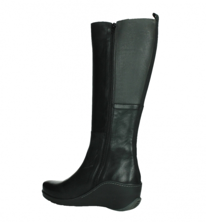 wolky high boots 03877 tanana 30000 black leather_15