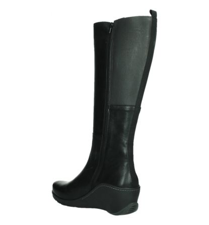 wolky high boots 03877 tanana 30000 black leather_16