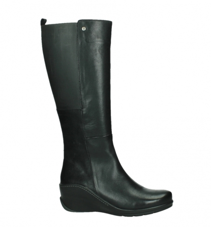 wolky high boots 03877 tanana 30000 black leather_2