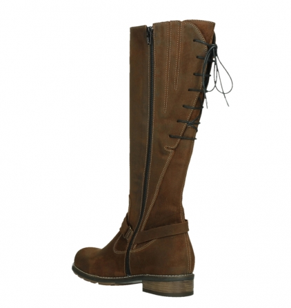wolky high boots 04433 belmore 45410 tobacco suede_16