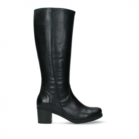 wolky high boots 05052 sharon 20000 black leather