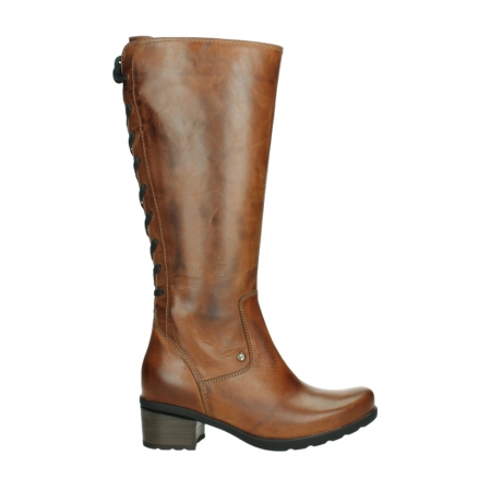 wolky high boots 07505 seoul 30430 cognac leather