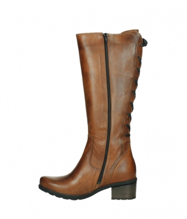 wolky high boots 07505 seoul 30430 cognac leather_13