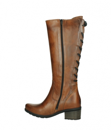 wolky high boots 07505 seoul 30430 cognac leather_14