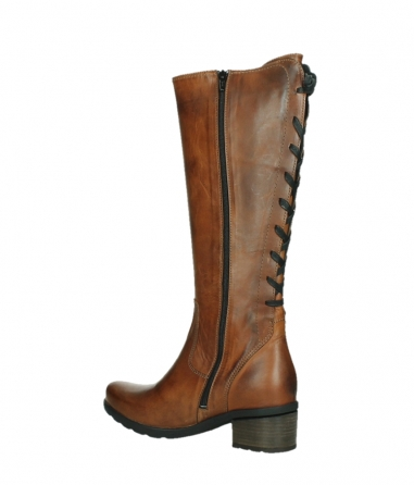wolky high boots 07505 seoul 30430 cognac leather_15